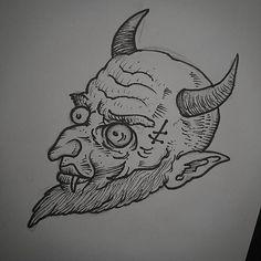 The Devil. Il me reste quelques dispos pour Paris cette semaine. / I have a few spaces this week in Paris.  Infos & Booking:  nealpanda.tattoo@gmail.com  #tattoo #tatouage #ink #nealpanda #devil #diable #satan #lucifer #azazel #abigor #666 #blackworkerssu | by NEAL PANDA