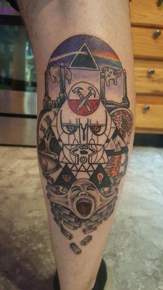 Leo Tattoos, Music Tattoos, Tattoos For Guys, Tattoo Stencils, Stencil Art, Leo Tattoo Designs, Abstract Art Tattoo, Pink Floyd Art, Jimi Hendrix