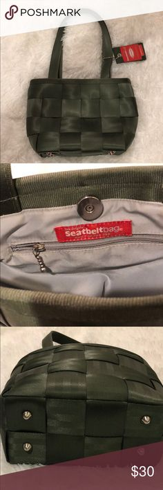 The Original Seatbelt Bag in hunter green The Original Seatbelt Bag in hunter green. Made in the USA. In excellent used condition. 7 ½ inches wide, 8 inches tall, 4 inches deep. Made to last! The Original Seatbelt Bag Bags Mini Bags