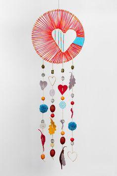 DIY Heart Dreamcatcher Craft