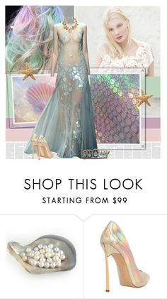 """Mermaids"" by bklana ❤ liked on Polyvore featuring daria, Marios Schwab, Casadei and Cameo"
