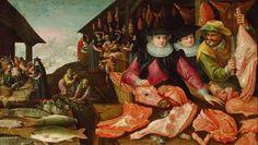 Meat Market (winter)  in 1590, by  Frederik I. van Valckenborch