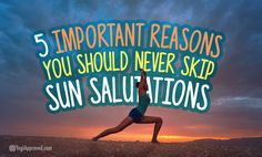 There are many compelling reasons to make sure you include sun salutations in your physical yoga practice. They build physical strength and endurance...