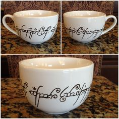 Lord of the Rings Cappuccino Mug by TooLegitTooKnit on Etsy, $20.00 I would love to have one of these!