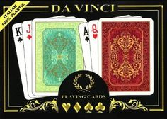 Standard Playing Card Decks - Da Vinci Persiano Italian 100 Plastic Playing Cards 2deck Set Poker Size Whard Shell Case  2 Cut Cards >>> To view further for this item, visit the image link.