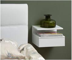 Furnishings – The Adult Bedroom – Nightstands – Bedside Suspended ASHLAN white Source by lderudder