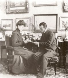 Nicholas with his cousin Victoria of Wales