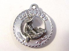 Vintage Colorado sterling silver charm pendant by wandajewelry2013