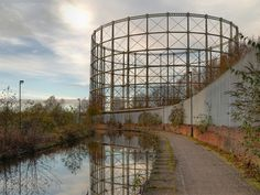 One of the two giant gasholders built for the Bradford Gasworks in the second half of the nineteenth century. Up until the late the gasworks together with Bradford Colliery and Bradford Ironworks (Richard Johnson and Nephew). Beautiful Ruins, Manchester England, Salford, Sounds Like, Downton Abbey, The Beatles, United Kingdom, Photograph, David
