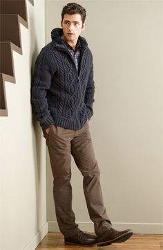 sweater, chinos