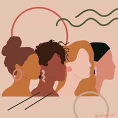 global home decor style Wohnkultur Stil Happy Today we celebrate ourselves and all of our sisters globally. Feminist Art, Wow Art, Grafik Design, Oeuvre D'art, Digital Illustration, Woman Illustration, Art Inspo, Art Girl, Art Sketches