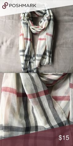 Burberry look-alike scarf! Burberry look-alike scarf! In excellent condition. Accessories Scarves & Wraps