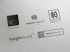 Knight Build Initial Concept This week I've been working on some initial concepts for a new branding project at Green Chameleon HQ. Knight Build is a construction company who are involved with some of the largest and most pres. Bauunternehmen Logo, Logo Branding, Logos, Branding Design, Cool Business Cards, Business Logo, Business Design, Construction Company Logo, Construction Logo Design