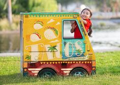 OTO Taco Truck!  Huge cardboard playhouse for kids. Designed in Brooklyn. Made in the USA. 100% recyclable and biodegradable.