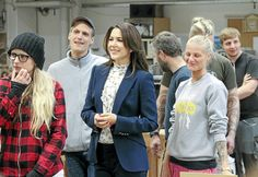 Crown Princess Mary visited the Roskilde Technical School