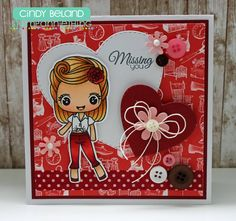 Release Day and Cindy shares her Betty Lou! #stampanniething #rubberstamps  #chibistamps  #chibi #papercrafts #handmade #copic #cre8time