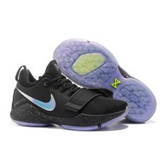 b80fbae5683 Nike PG1 Paul George Sneakers Black Purple Paul George Sneakers
