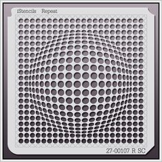 27-00107 R SC Spherical Optical Illusion Stencil