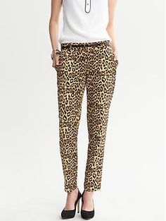 Leopard Skinny Ankle Pant by Banana Republic.  Not quite sure how I'm feel about leopard pattern in such large pieces for the Fall 2013. Your thoughts?