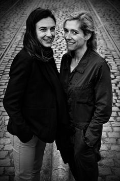 Natali Broods & Sara De Roo, two Belgian actrices. Photograph by Isabel Pousset
