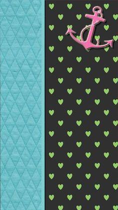 Anchor Wallpaper, Sparkle Wallpaper, Cover Wallpaper, Iphone 5 Wallpaper, Heart Wallpaper, Wallpaper Backgrounds, Chevron Anchor, Anchor Art, Hello Kitty Collection
