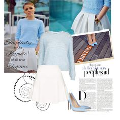 """""""Baby blue"""" by sarapires on Polyvore"""