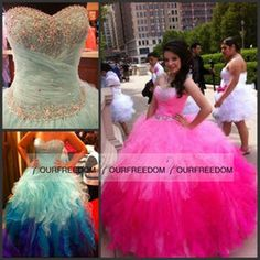 Ball Gowns Long Prom Dresses 2016 Sale Sweetheart Puffy Pageant Womens Ruffle Tulle Cheap Elegant Quinceanera Sweet 16 15 Gowns