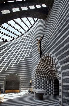 architecture - Mario Botta's Church at Mogno Rome Architecture, Religious Architecture, Architecture Design, Amazing Architecture, Modern Church, Interesting Buildings, Modern Buildings, Kirchen, Interior And Exterior