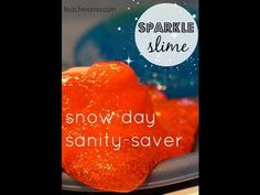 how to make homemade slime | snow day sparkle slime craft | teachmama.com