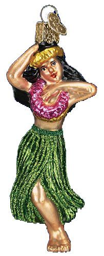 Hula Dancer Glass Ornament from Christmas-Treasures.com ($14.99)
