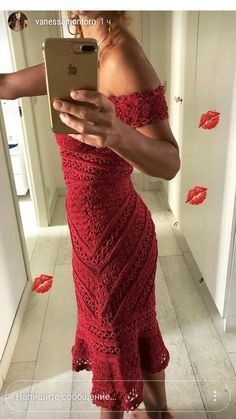 Vestido em Crochê - Vanessa Montoro, Crochet Cardigan, Knit Dress, Dress Skirt, Crochet Fabric, Knit Crochet, Crochet Bodycon Dresses, Bohemian Mode, Crochet Fashion
