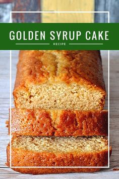 Traditional, British Golden Syrup Cake For Afternoon Tea