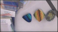 Polymer clay tutorial - creating iridescent/shimmering surfaces using Angelina film - YouTube