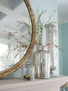Love this mirror and mercury glass