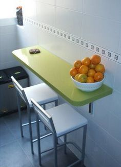 Cocinas on pinterest ideas para black kitchens and for Mesas abatibles para cocina