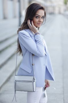 Wear your pastels. #baby #blue #jacket
