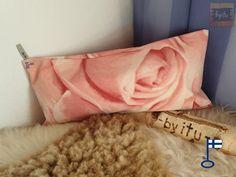 Samu-saunatyynyn päällinen Ruusu n. 25x50 cm - by itu -
