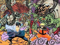 "Naruto & Sasuke ""wind & thunder"""