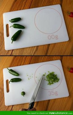 Awesome cutting board scale