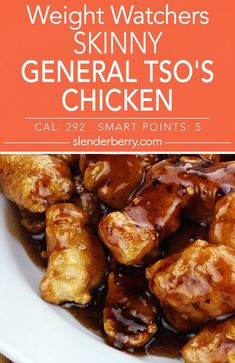 Skinny General Tso's Chicken - Slenderberry Weight Watchers Skinny General Tso's Chicken Recipe with Weight Watcher Dinners, Weight Watchers Chicken, Weight Watchers Meal Plans, Weight Watchers Diet, Instant Pot Chinese Recipes, Healthy Chinese Recipes, Healthy Dinner Recipes, Vegetarian Recipes, Low Calorie Dinners