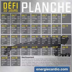Defi planche ak energie cardio - Alice Pin World 30 Day Plank Challenge, 20 Minute Workout, Sport Inspiration, Sport Motivation, 21 Day Fix, Running Workouts, Butt Workout, Yoga Fitness, Cardio