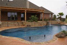 Free Form Swimming Pool  Texas Landscaping  Landvisions TX  Tyler, TX