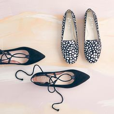 Flats don't have to be boring – step it up with patterns and laces, loafers and pointed toes.