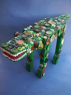 Button Alligator by sagebead on Etsy,