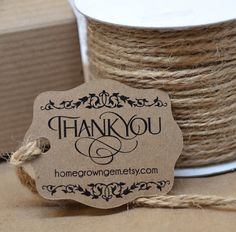 Kraft Brown Rustic Ornate Gift Tags Thank You Tags Hang Tag by HomegrownGems, $16.00