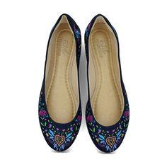 Sapatilha Confort Frida Flor inspirada na pintora mexicana Frida Kahlo - Coleção Fashion Trend da Estilo Menina - Fashion & Divertida