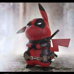 """Pokemon, Deadpool lovers or not you have to give it to Pikapool! Ralph Andres rendered image of When Pikachu Meets Deadpool """"Pikapool"""" went vital even more when Ryan Reynolds approved Pikapool and the hunt was Pikachu Pikachu, 3d Pokemon, Deadpool Pikachu, Deadpool Funny, Pokemon Funny, Pokemon Fusion, Dead Deadpool, Deadpool Quotes, Pikachu Cake"""