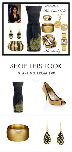 """""""Michelle in Black and Gold."""" by kimmie-plus2 on Polyvore featuring Monsoon, GUESS, Witchery, Andrew Hamilton Crawford and Juicy Couture"""