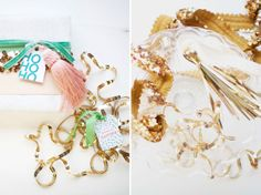 Make your own wrapping paper. Use tinsel, and fancy ribbons. I think this is a super cute idea!!