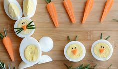 Easter is tomorrow! We were busy dying our Easter eggs yesterday, and now today, we'll make some breakfast out of those eggs. Visit CBC Parents to find out how easy it is to make these adorable egg b (easy easter recipes) Easter Recipes, Baby Food Recipes, Top Recipes, Dessert Recipes, Cute Food, Good Food, Funny Food, Food Art For Kids, Creative Food Art